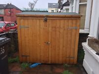 6ft x 3ft Garden bike shed shipping wooden with locks £120 RRP £200