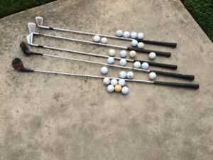 26 Golf Balls and 5 irons all for $12.00