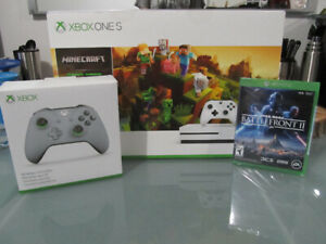 Xbox One S 1 to Neuf 2 Manettes Minecraft Star Wars 2