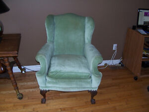 Antique Wing Back Chair Early 1900s