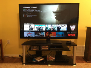 "LG 55"" TV and TV stand"