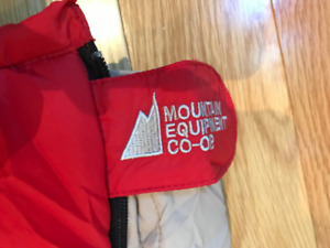 MEC child's sleeping bag in red