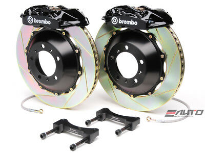 Brembo Rear GT Brake 4pot Black 345x28 Slot Disc GS350 GS450h IS250 IS350 RC350