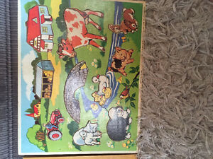 Vintage fisher price wooden puzzles
