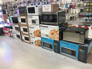 MICROWAVE OVENS, STAINLESS STEEL ,BLACK,WHITE, STARTING FROM $90