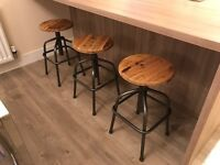 Wooden breakfast/bar stool (3)