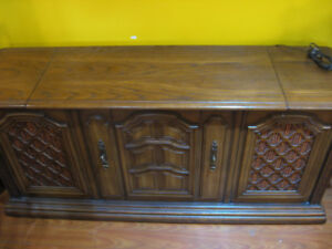 Vintage stereo console with record player/radio/8 track player