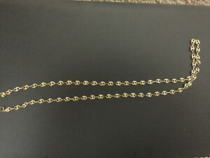 18k gucci link chain yellow gold brand new
