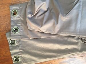 Drapery panels, 2. Brown with grommets. Great condition.