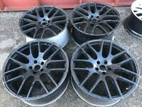 "22"" alloy wheels alloys rims tyres tyres 5x120 land Range Rover BMW Vw Volkswagen Transporter T5 T6"