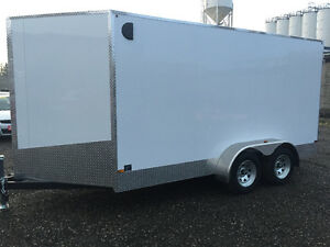 7' x 14' Tandem Axle Cargo Trailer • 7' tall! • Made in Canada Kitchener / Waterloo Kitchener Area image 3