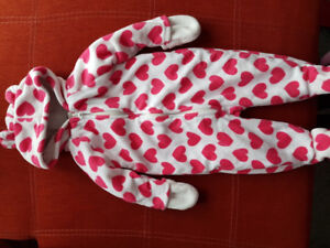 Winter baby girl outfits, 6-12 months