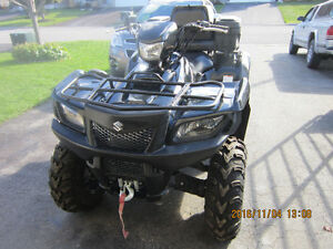 2014 SUZUKI KINGQUAD 750,  EFI , EPS  ALMOST NEW  ITP MUD  TIRES