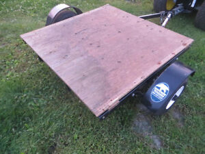 UTILITY TRAILER 4 X 8  ... SNOW BEAR ...PRICED TO SELL