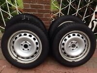 Mercedes Audi VW Steel Rims With Michelin Winter Tires 215/55R16