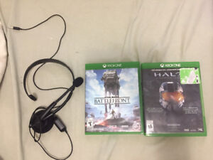 Xbox One Games + Free headset
