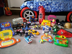 Various toddler toys, wooden puzzles, MagnaDoodles $5 each toy
