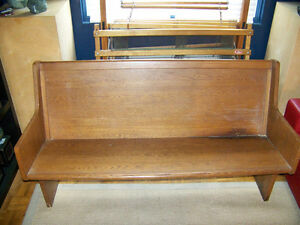 Vintage Wooden Church Pew