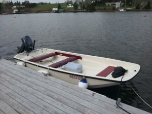 13 ft Boston Whaler with almost new outboard motor