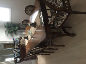 Louis the XVI antique solid wood dining room set