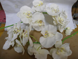 2 Stems of Silk Orchids (flowers)