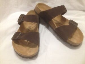 Men's New Birkenstock 'Betula' Brown Suede Leather Sandals 10M