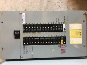 commander residential electrical panel 100 amp  used