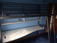 IKEA high bunk with desk