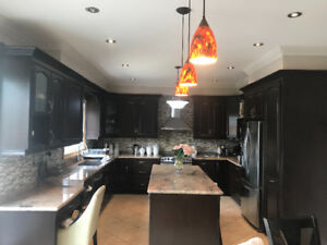 Kitchen cabinets, granite counter tops and all appliabcws