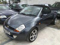 Ford Streetka 1.6 2003.5MY Luxury sport met grey black leather 63000 miles