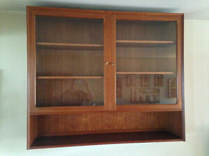 ** Price Reduced Mid Century Hanging Teak Display Cabinet 1960's