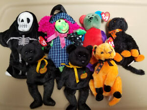 Halloween Beanie Babies - mint condition