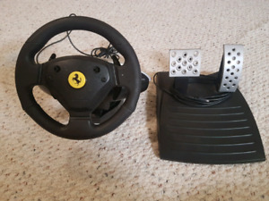Old Thrustmaster Ferrari 360 Modena Racing Wheel and Foot Pedal