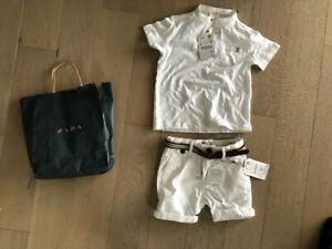 Size 4 white outfit for a boy BRAND NEW WTAGS half price