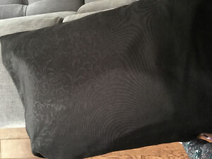 Barely used Black demask queen size sheets
