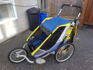 Chariot Cougar 2 Jogging Stroller Includes Bike Tow Bar Kit