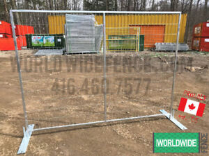 6x8 Temporary Fence Panels - Fast Fencing Steel Construction