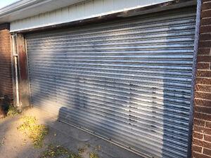 Industrial style aluminum garage door
