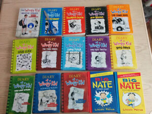 13 Diary of Wimpy Kid and 2 Big Nate for sale