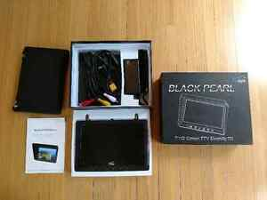 "Flysight Black Pearl 7"" FPV monitor with diversity RX for drones"