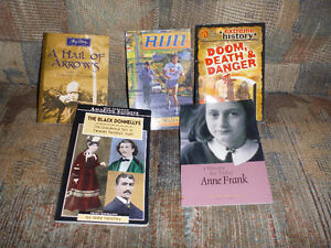 Variety of history-type chapter books
