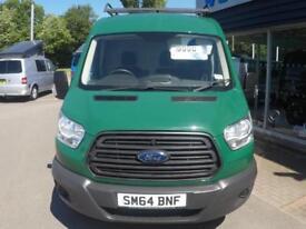 2014 Ford TRANSIT 350 MWB SHR 125ps Van *GREEN* Manual Large Van