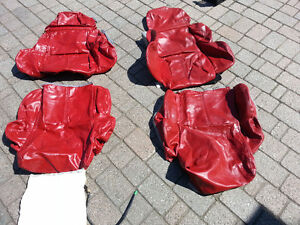 C4 Corvette Red Leather Seat Covers