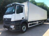 2015 65 Mercedes-Benz Antos 2533 euro 6 6x2 rear lift 31ft box tail-lift