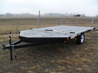 """New 2017 """"Rainbow 2-Place Snowmobile/ATV Trailer Red Deer Alberta Preview"""