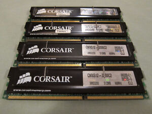Two Matched Pairs of Corsair Twinx with Heat Spreaders (2x1GB TW Kingston Kingston Area image 1