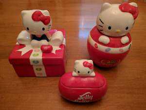 Hello Kitty Jelly Belly Ceramic Jars