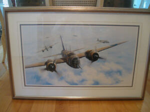 "IMPRESSIVE OLD VINTAGE [""82] BOMBER AIRCRAFT PRINT.. CHRIS GOLDS"