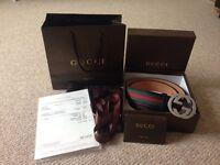 Original Gucci Signature Web Leather belt