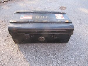 trunk coffee table storage metal vintage retro